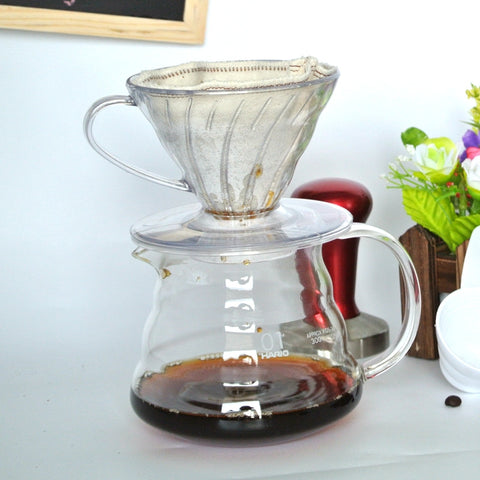 1PC Free Shipping 300ML Espresso Coffee Server + V60 Coffee Dripper Sets