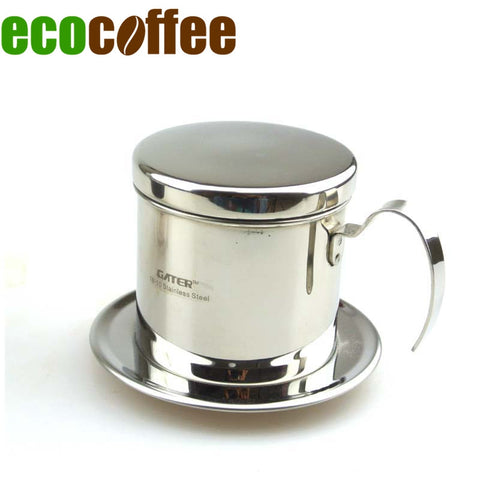 1 Pc Free Shipping 1 Cup Stainless Steel Vietnam coffee dripper Vietnamese drip  pot