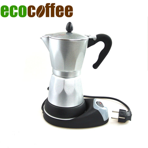 1PC Free Shipping 3-6 Cups Counted Espresso Coffee Maker Electrical Moka Pot
