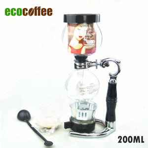 1PC  3Cups Coffee Tea Syphon Makers Coffee Siphon
