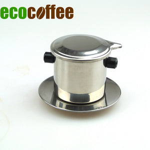 1 Pc Free Shipping 1 Cup Stainless Steel Vietnam coffee dripper  pot Espresso Coffee Makers