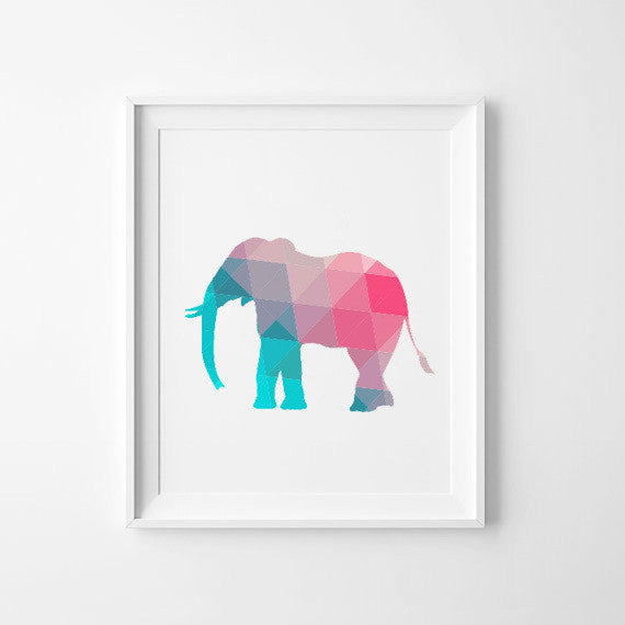 Colorful Elephant Canvas Art Print Poster, Wall Pictures for Home Decoration, Wall Decor FA237-2