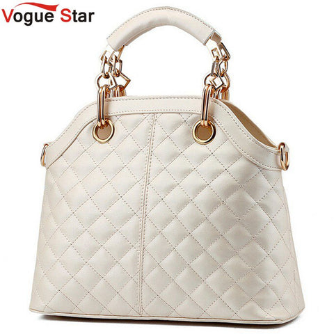 Vogue Star 2017 New Arrive Women's Shoulder Bag European Style Fashion Plaid Messenger Bags Women Leather Handbag LA137