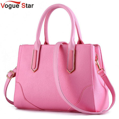 Vogue Star 2017 Fashion Shell Women Shoulder Bag Candy Color Women Messenger Bags Leather Designer Handbags High Quality LA228