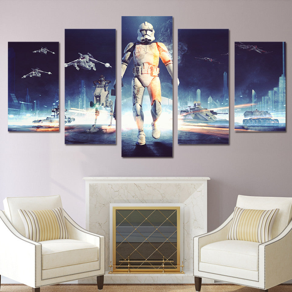 Hd printed 5 piece star wars canvas wall art painting livingroom decoration print poster picture canvas free shipping ny 2616