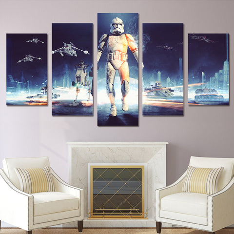 HD Printed 5 piece star wars canvas wall art painting livingroom decoration print poster picture canvas Free shipping/ny-2616