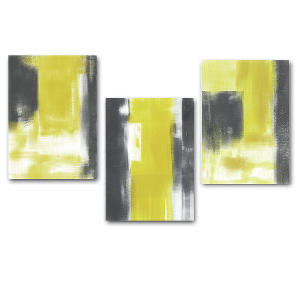 Gray and Yellow Abstract Minimalist Art Canvas Poster Painting Wall Picture Print Modern Home Living Room Decoration