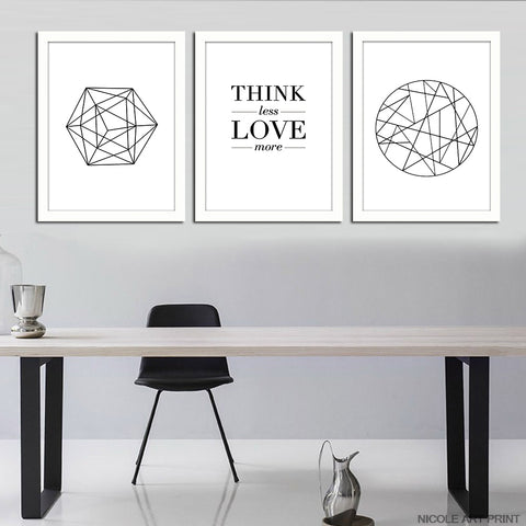 NICOLESHENTING Nordic Art Geometry Motivational Canvas Poster Minimalism Abstract Wall Picture Modern Home Room Decoration