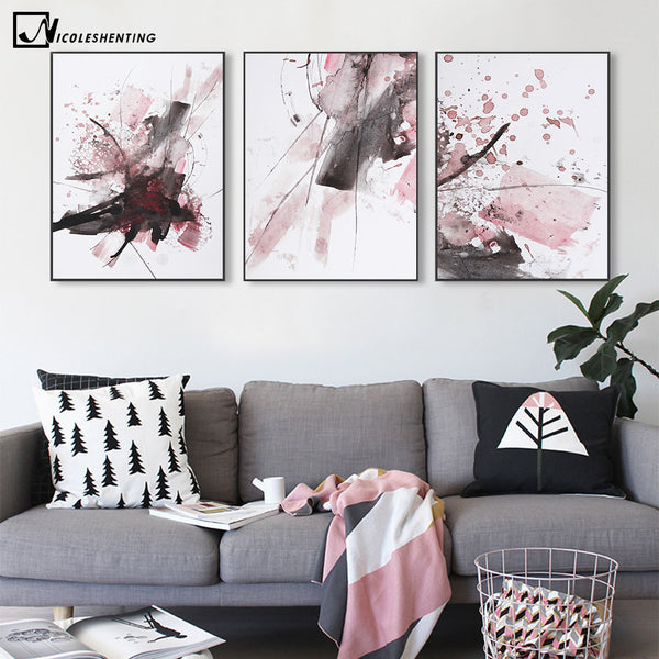 Modern Abatract Art Minimalist Canvas Poster Painting Watercolor Realist Art Wall Picture Print Home Living Room Decoration 308