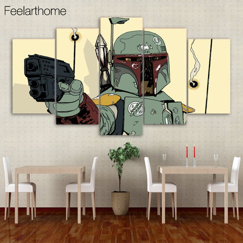 HD Printed Star Wars Comics 5 piece picture Painting wall art room decor print poster picture canvas Free shipping/ny-1273
