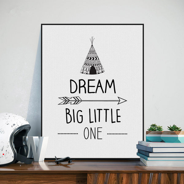 Art Print Poster Black White Nordic Minimalist Typography Nursery Wall Canvas Painting Kid Room Decor Painting PP087