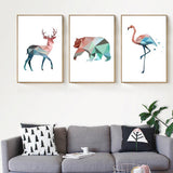 Canvas Painting Polar Bear Flamingo Canvas Painting Pictures On The Wall For Home Decoration Canvas Poster Decorative Picture