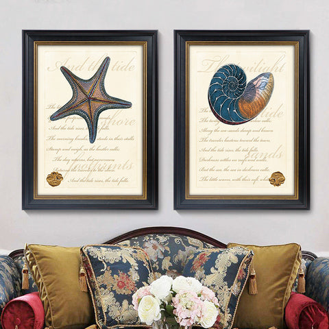 Art Sets Conch, Shells And Starfish Wall Pictures Modern Abstract Oil Painting Cheap painting on the wall
