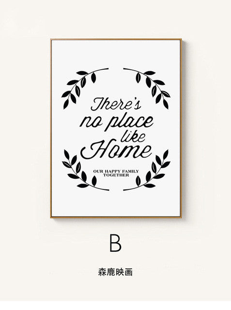 Vintage Home Quote Canvas Art Print Poster, Wall Pictures for Home Decoration, Wall Decor