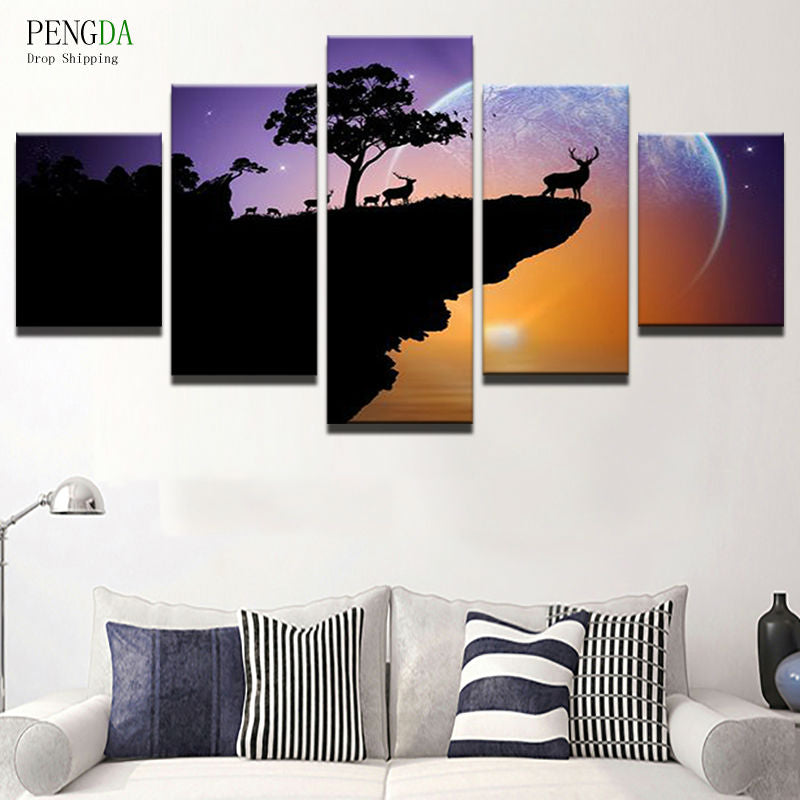 PENGDA Canvas Painting Home Decor Frames For Living Room Canvas Art ...