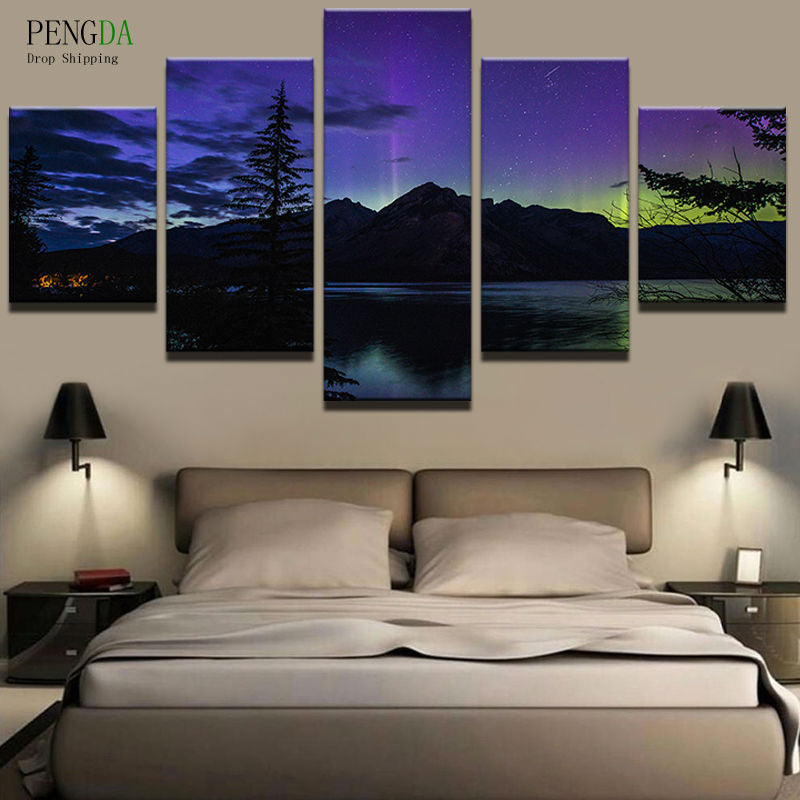 Pengda Canvas Painting Style Wall Pictures For Living Room Wall Art