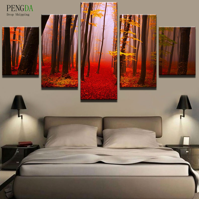 Pengda Wall Art Canvas Painting Style Wall Pictures For Living Room
