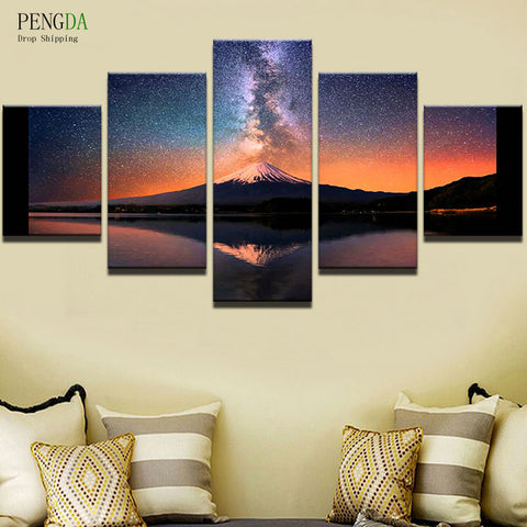 PENGDA Wall Pictures 5 Panel Landscape Canvas Wall Art Canvas ...
