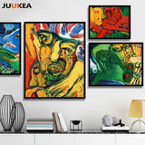 4 Pcs Wild Abstract Modern Oil Painting Canvas Art Print Painting Poster, Wall Picture For Living Room, Home Decor 40x50cm
