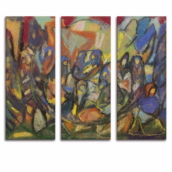 3 Panels Modern Street Graffiti Creative Abstract Canvas Print Painting Poster Wall Picture For Living Room No Frame Home Decor