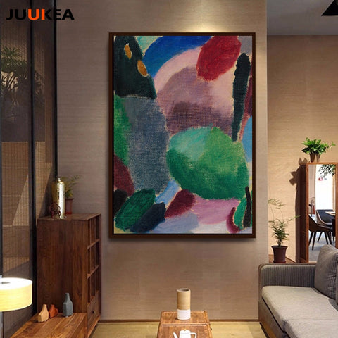 POP Modern Abstract Creative Color Piece Canvas Art Print Painting Poster, Wall Picture For Living Room No Frame, Home Decor