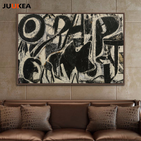 Orestes by Willem De Kooning Abstract Geometry Stereo Soul Vintage Bright, Canvas Print Painting Art Wall Picture Home Decor