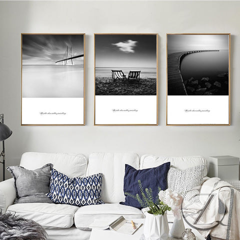 Modern Wall Art Oil Painting Black and White Decoration Painting Wall Pictures For Living Room Canvas Painting Poster And Prints