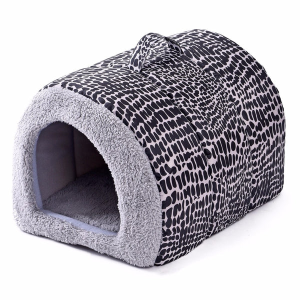 Pet Dog House Bed Soft Mat For Dogs Pets House Cat Dog Bed Pet Pad High Quality Dog Pet Bed Leopard Print