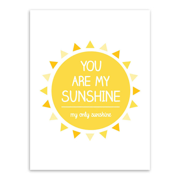 Modern Minimalist Yellow Sunshine Typography Love Quotes A4 Art Print Poster Wall Picture Canvas Painting Living Room Decoration
