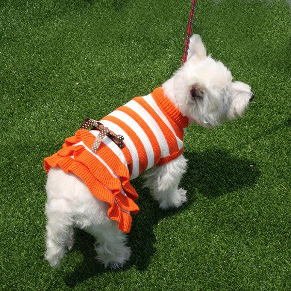 Dog Sweater Stripes Knit Wool Pet Dog Sweaters Cute Spring