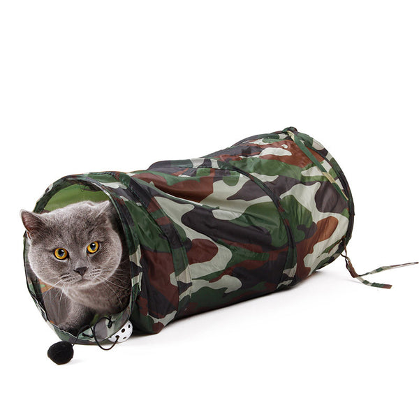 Pet Tunnel Cat Play Tunnel Camouflage Color Funny  Cat Long Tunnel Kitten Play Toy Collapsible Bulk Cat Toys PlayTunnel