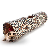 Pet Tunnel Cat Play Tunnel Leopard Print Crinkly Cat Fun Long Tunnel Kitten Play Toy Collapsible Bulk Cat Toys Rabbit PlayTunnel