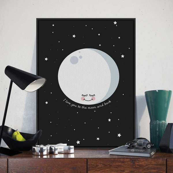 Nordic Minimalist Moon Love Quotes A4 Large Art Print Poster Cartoon Wall Picture Canvas Painting No Framed Kids Room Home Decor