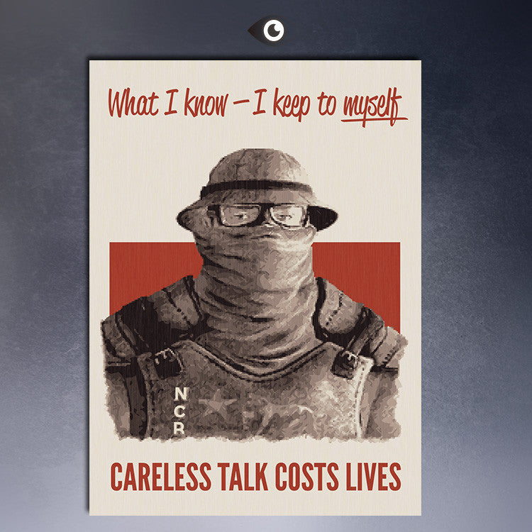 Careless Talk Costs Lives Fallout arts canvas print  Giclee poster  for wall decoration painting