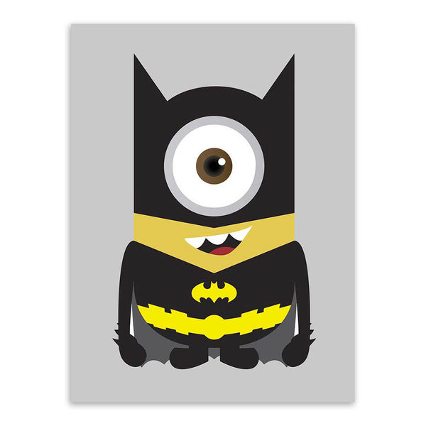 Minions Superheros Avengers Batman Funny Pop Anime Movie A4 Art Print Poster Kawaii Wall Picture Canvas Painting Kids Room Decor