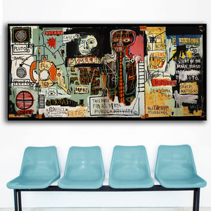 Cuadros Decoracion Painting Notary Jean Michel Basquiat -neo-expressionism For Graffiti Art Print On Canvas For Home Decoration