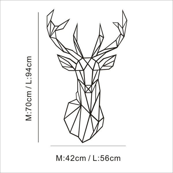 AYA DIY Wall Stickers Wall Decals, Geometric Deer Head  Wall Sticker Type PVC Wall Stickers M42*70cm /L56*94cm