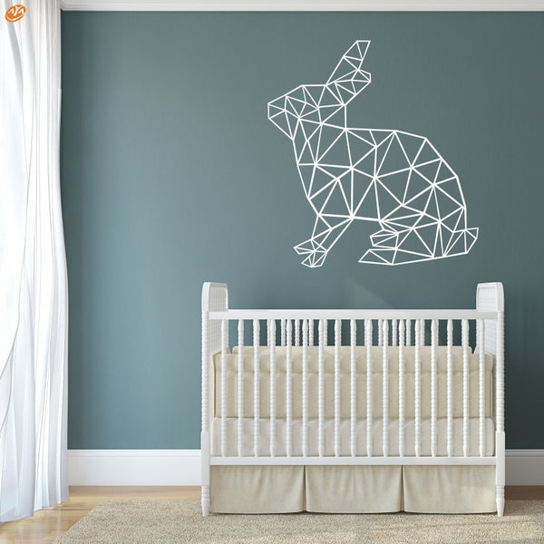 AYA DIY Wall Stickers Wall Decals,Geometric Rabbit  Wall Sticker Type PVC Wall Stickers M42*45cm/L56*60cm