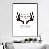 Deer Wall Pictures Painting by Numbers Canvas Art Posters and Prints Cuadros Paintings for Living Room Wall Room No Frame