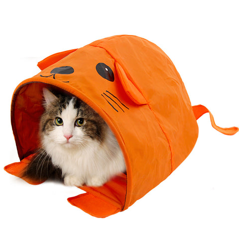 Cartoon Shape Cat Bed with Sound Pet Bed For Small and Medium Size Animals For Travel Very Cute Collapsible Easy Storage