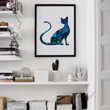 Cat Canvas Art Print Painting Poster,  Night Scenery Wall Pictures for Home Decoration, Home Decor FA380