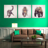 Gorgeous Animals Canvas Printings For Room Wall Modern Paintings Wall Pictures Tableau Peinture Sur Toile With Frame Hot Gifts