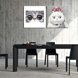 Lovely Big Eyes Cat Canvas Printings For Room Wall Modern Paintings Wall Pictures Tableau Peinture Sur Toile With Frame Hot Gift