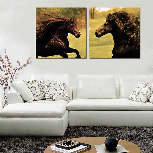 Running Horses Canvas Printings For Room Wall Modern Paintings Wall Pictures Tableau Peinture Sur Toile With Frame Popular Gifts
