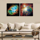 Framed Universe Landscape Canvas Printing For Home Decor Modern Painting 30X30CM Quadros De Parede Sala Estar Cool Gift