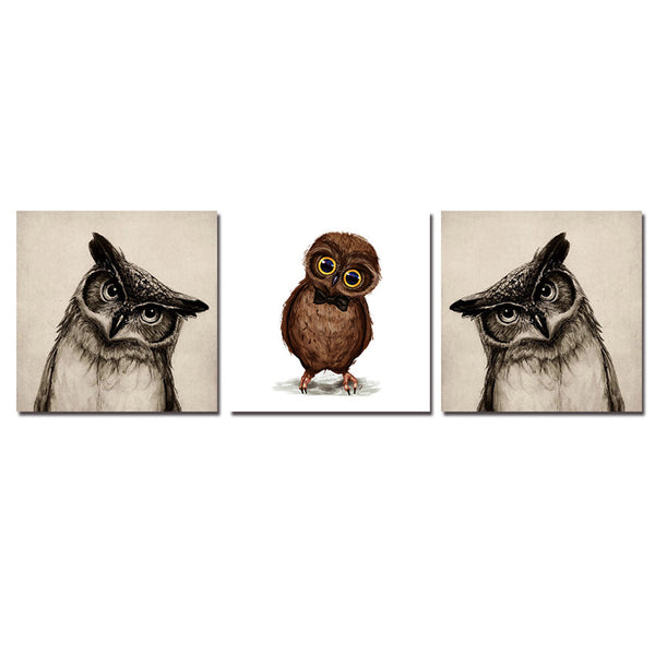 Bird Canvas Printings Animal Wall Pictures For Living Room Modern Framed Paintings Quadros De Parede Sala Estar Com Moldura Gift