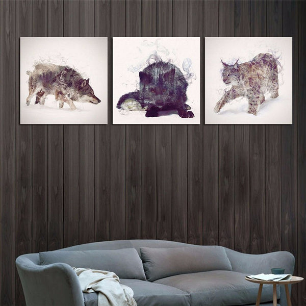 Amazing Animals Canvas Printings For Room Wall Modern Paintings Wall Pictures Tableau Peinture Sur Toile With Frame Hot Gifts