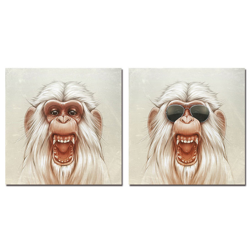 Framed Monkey Wall Pictures For Living Room Ready To Hang Canvas Printing Wall Art