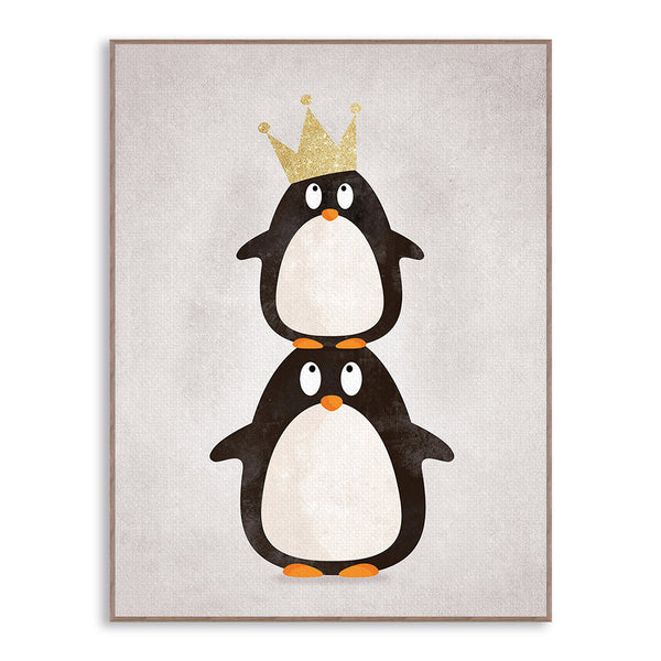 Modern Nordic Kawaii Animals Bear Hippo Penguins Poster Print Nursery Wall Art Picture Canvas Painting No Frame Kids Room Decor