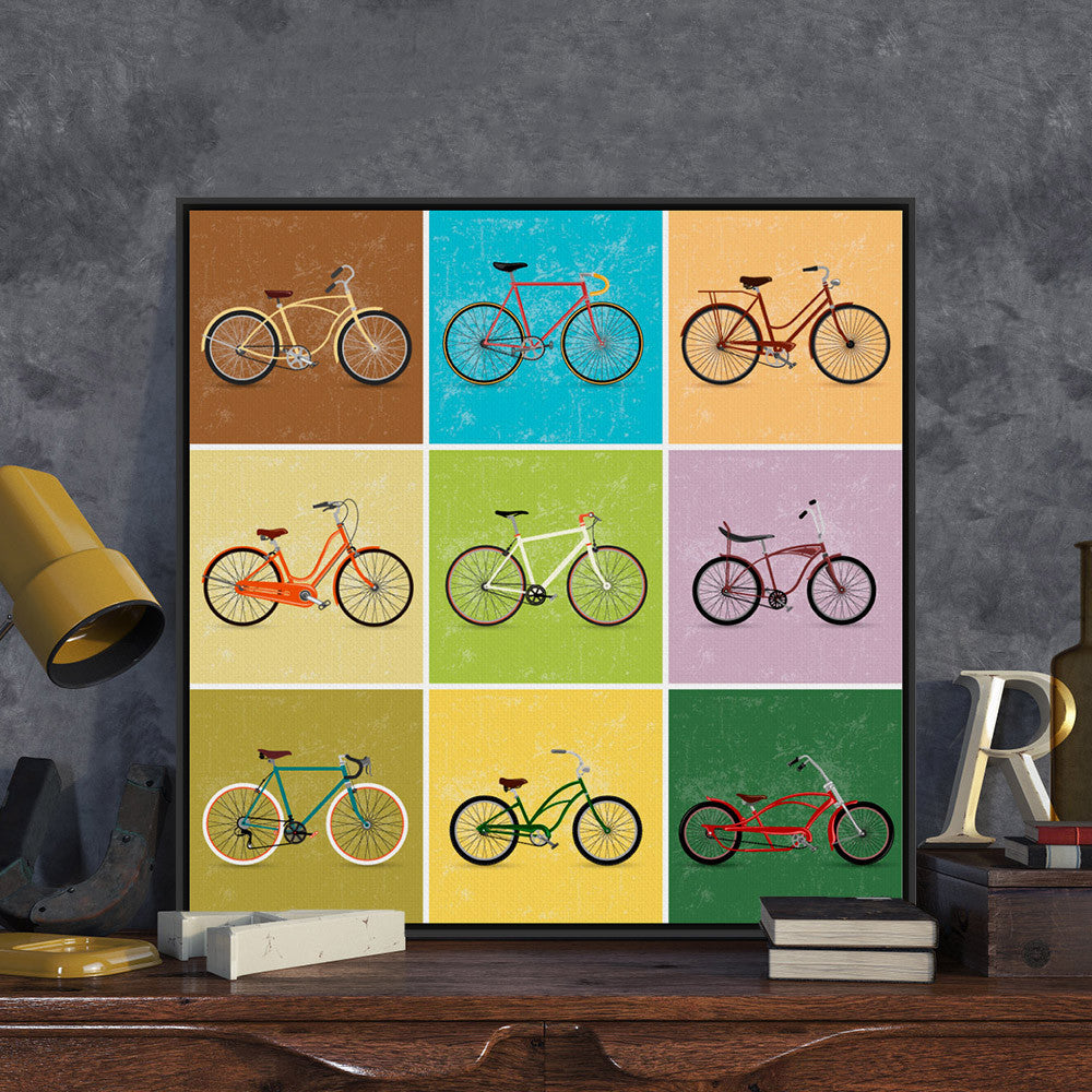 Modern Minimalist Travel Vintage Retro Bike Bicycle A4 Art Print Poster Hipster Wall Picture Canvas Painting No Frame Home Decor